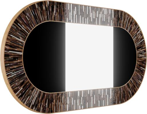 Stadium PIAGGI brown glass mosaic mirror image 4