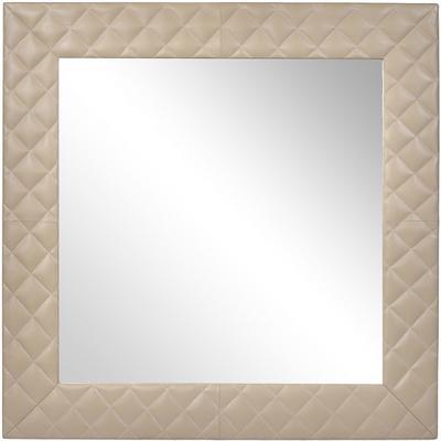Ecclestone Square Wall Mirror Leather Frame