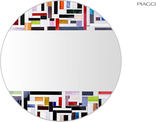 Abstract Double Mosaic Mirror image 13