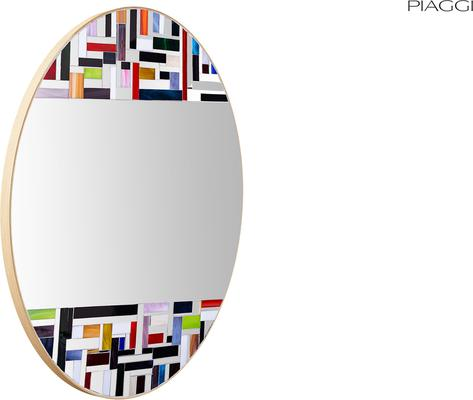 Abstract Double Mosaic Mirror image 14