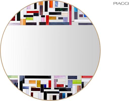 Abstract Double Mosaic Mirror image 15