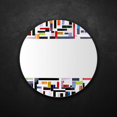 Abstract Double Mosaic Mirror