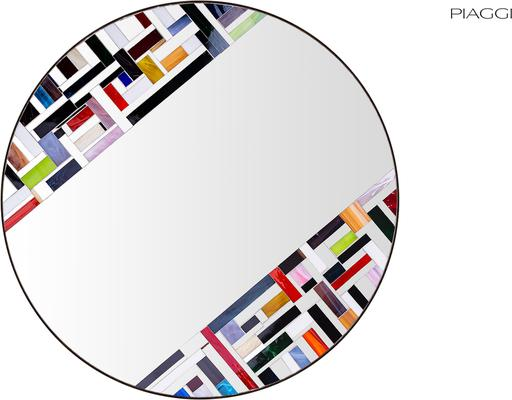 Abstract Double Rotated Mosaic Mirror image 2