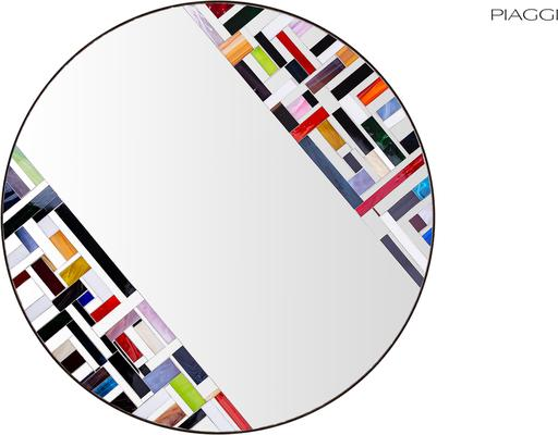Abstract Double Rotated Mosaic Mirror image 3