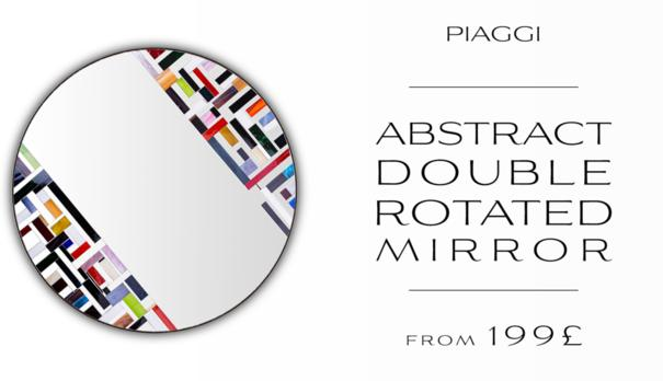 Abstract Double Rotated Mosaic Mirror image 10