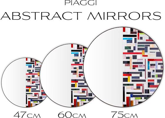 Abstract Half Mosaic Mirror image 12