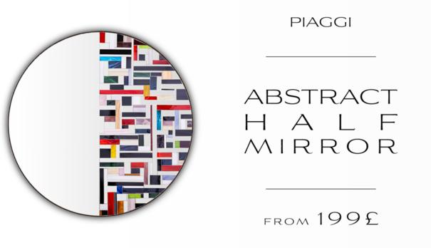 Abstract Half Mosaic Mirror image 14