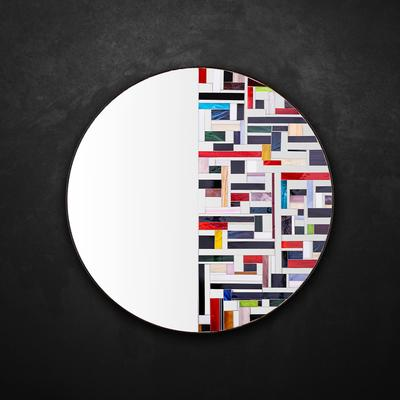Abstract Half Mosaic Mirror