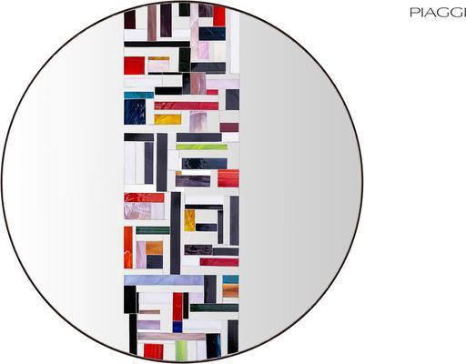Abstract Single Mosaic Mirror image 2