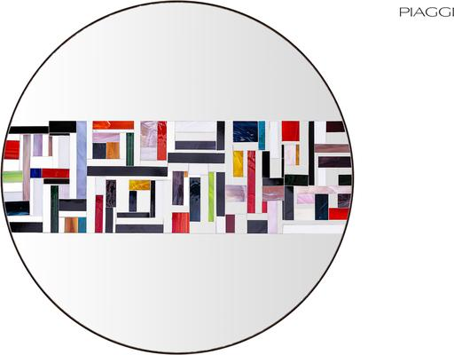 Abstract Single Mosaic Mirror image 3