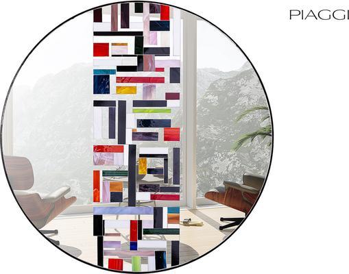 Abstract Single Mosaic Mirror image 4