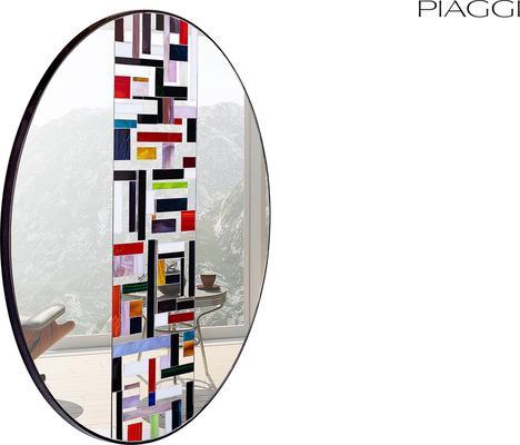 Abstract Single Mosaic Mirror image 5