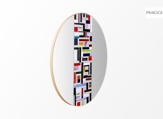 Abstract Single Mosaic Mirror image 7