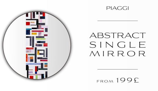 Abstract Single Mosaic Mirror image 13