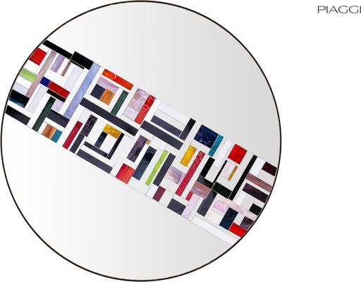 Abstract Single Rotated Mosaic Mirror image 2