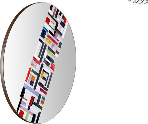 Abstract Single Rotated Mosaic Mirror image 4