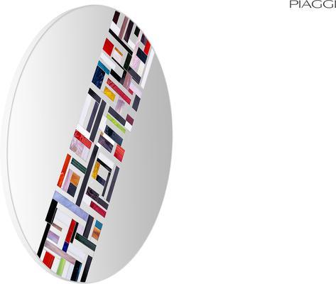 Abstract Single Rotated Mosaic Mirror image 5