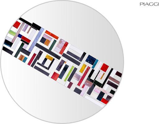 Abstract Single Rotated Mosaic Mirror image 6