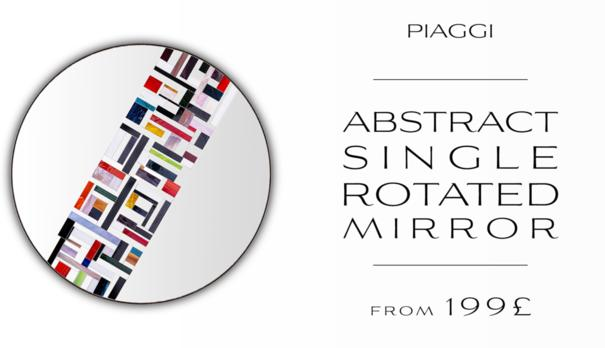 Abstract Single Rotated Mosaic Mirror image 8