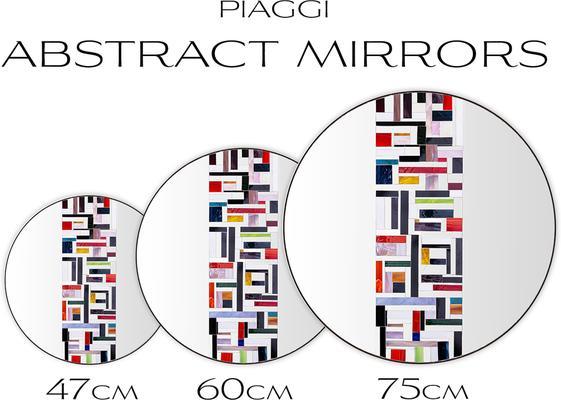 Abstract Single Rotated Mosaic Mirror image 9