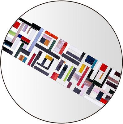 Abstract Single Rotated Mosaic Mirror