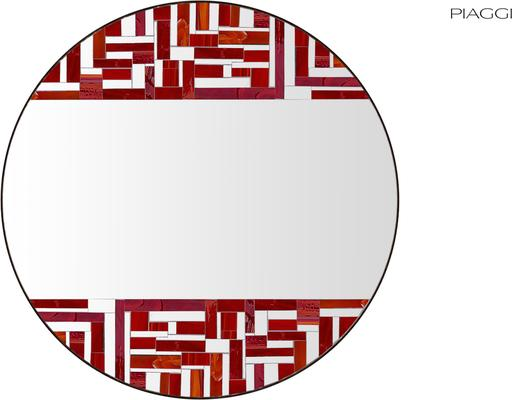 Abstract Double Red Mosaic Mirror image 2