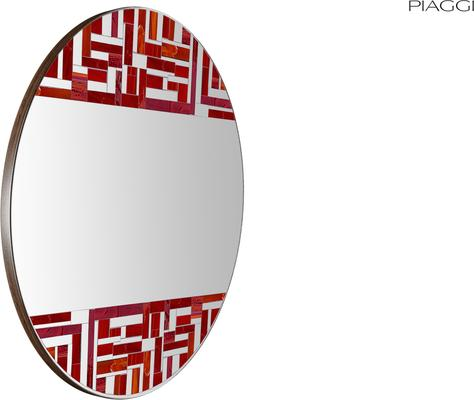 Abstract Double Red Mosaic Mirror image 3