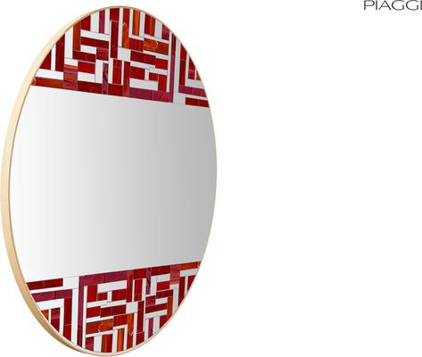 Abstract Double Red Mosaic Mirror image 5