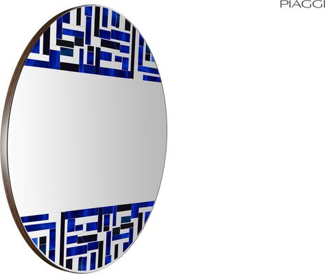 Abstract Double Blue Mosaic Mirror image 3