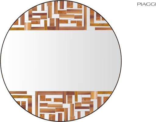 Abstract Double Beige Mosaic Mirror image 2