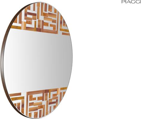Abstract Double Beige Mosaic Mirror image 3
