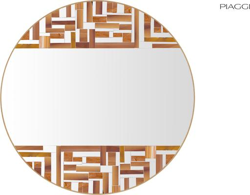 Abstract Double Beige Mosaic Mirror image 4