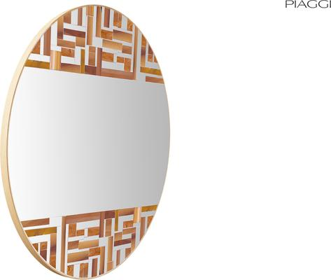 Abstract Double Beige Mosaic Mirror image 5