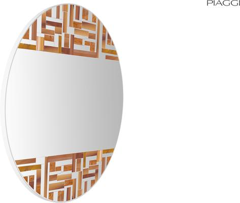 Abstract Double Beige Mosaic Mirror image 7