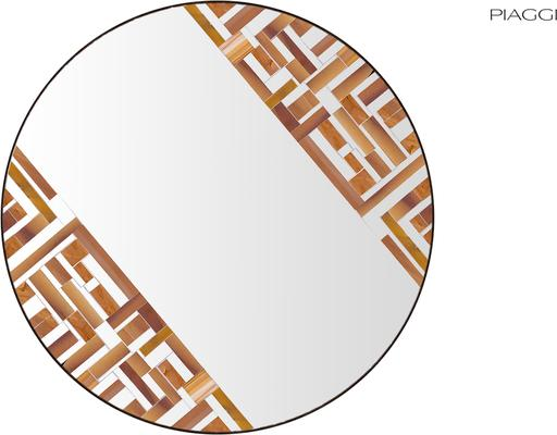 Abstract Double Rotated Beige Mosaic Mirror image 2