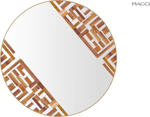 Abstract Double Rotated Beige Mosaic Mirror image 3