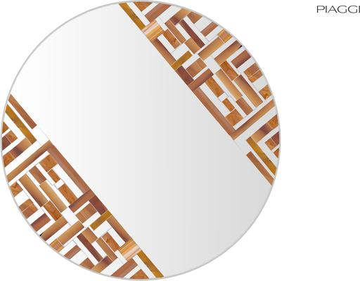 Abstract Double Rotated Beige Mosaic Mirror image 4