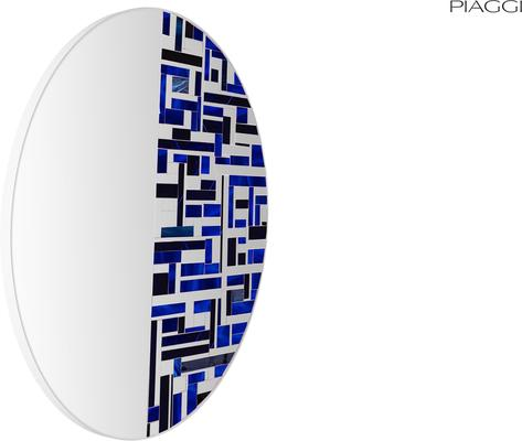 Abstract Half Blue Mosaic Mirror image 7