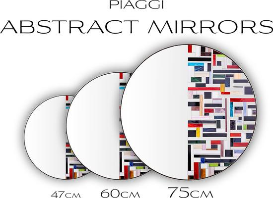 Abstract Half Blue Mosaic Mirror image 9