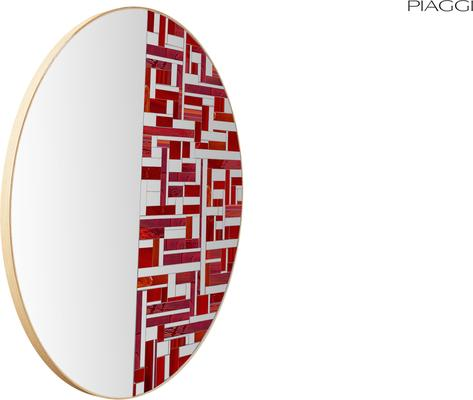 Abstract Half Red Mosaic Mirror image 5