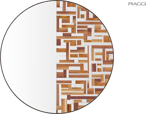 Abstract Half Beige Mosaic Mirror image 2
