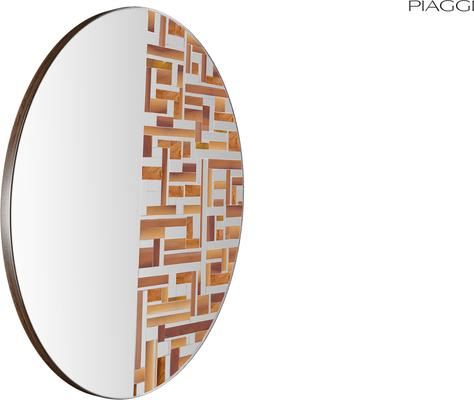 Abstract Half Beige Mosaic Mirror image 3