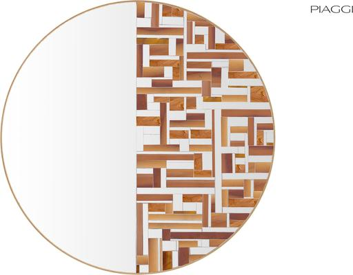 Abstract Half Beige Mosaic Mirror image 4