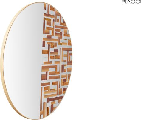 Abstract Half Beige Mosaic Mirror image 5