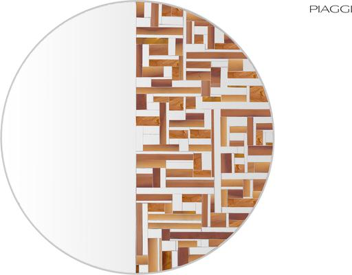 Abstract Half Beige Mosaic Mirror image 6