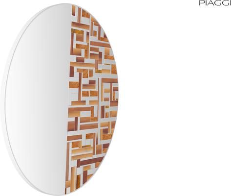 Abstract Half Beige Mosaic Mirror image 7