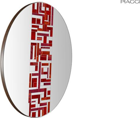 Abstract Single Red Mosaic Mirror image 3