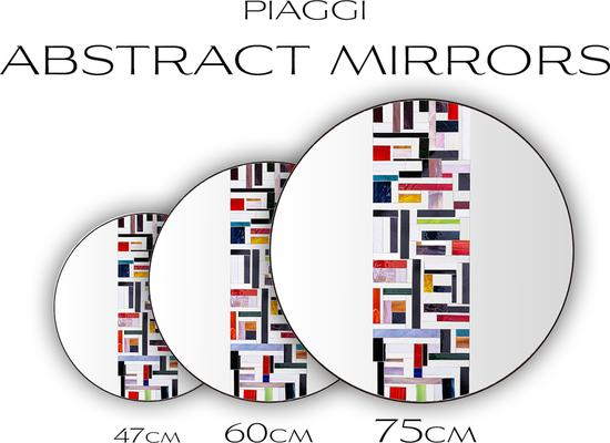 Abstract Single Red Mosaic Mirror image 9