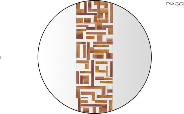 Abstract Single Beige Mosaic Mirror image 2