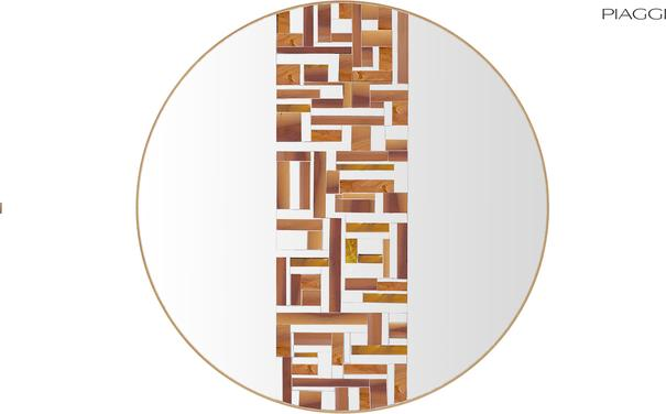 Abstract Single Beige Mosaic Mirror image 4